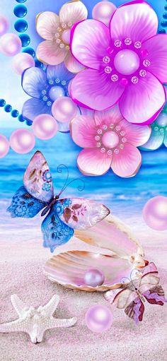 Beach Wallpaper, Glass Vase, Elegant, Wallpapers, Beautiful, Home Decor, Wall, Classy, Decoration Home