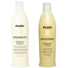 Rusk Sensories Brilliance Shampoo & Conditioner/and it smells like grapefruit and honey! Hair Cleanse, Dry Hair, Shampoo And Conditioner, Hair Goals, Color Blocking, Hair Care, Hair Makeup, Hair Beauty, Hair Care Tips
