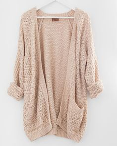 This looks soft and comfy. I love the color and knit. I wouldn't want it TOO big and slouchy, though.