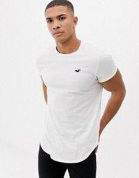 edcf327b Hollister | Hollister crew neck core icon logo t-shirt slim fit in black