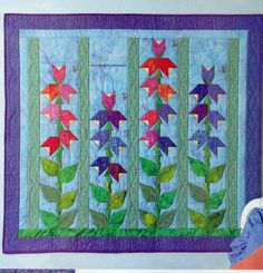 Secret Garden Quilt Pattern Pieced/Paper Pieced/Embroidery MS