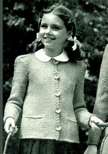 There is always something sweet in a little girl on pullover and peter pan collar!