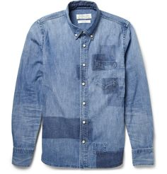 [ M ] patched chambray | #menswear
