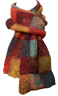 Hey, I found this really awesome Etsy listing at https://www.etsy.com/listing/207369094/hand-knit-scarf-sunny-market-patchwork