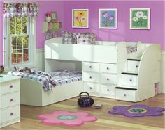 The Sierra Twin Over Twin Bunk Bed is perfect for shared rooms and sleepovers.