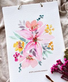 What's something you tell yourself when you're feeling the Monday blues? I think of things I'm thankful about, but that doesn't always work.... What about you?? . . . . . . . . #mondayblues #mondaymotivation #bujoart #watercolour #waterblog #artistsoninstagram #botanicalart #springcolors #flowerstagram #weddingflorals