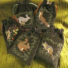 """New """"floral and fauna"""" bags coming to my Etsy shop this week. http://www.etsy.com/shop/medievalmuse"""