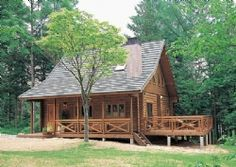 Beautiful Log Home from Big Foot Log and Timber Homes, Inc.
