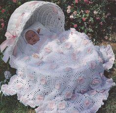 Roses Baby Afghan Crochet Patterns