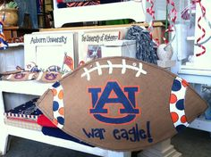 Football burlees are all the rage for your front door! We also have a local vendor who can do schools that are a little farther away - and they can be personalized!