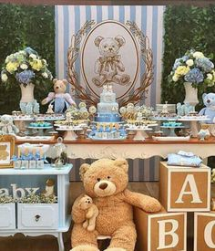Baby Shower Centerpieces – Standout With Creative Baby Shower Decorations Boy Baby Shower Themes, Baby Shower Gender Reveal, Baby Shower Cakes, Baby Shower Parties, Baby Boy Shower, Baby Shower Gifts, Decoracion Baby Shower Niña, Babyshower Party, Teddy Bear Baby Shower