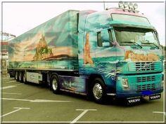 imagens de caminhões e carretas luxo | Foto de Caminhao: Volvo Francês: mulheres, praia e castelo de Saint ...
