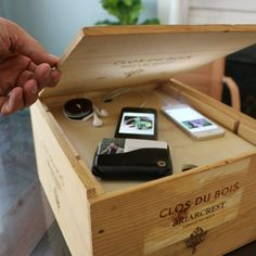 Want to Organize and Hide Your Electronics? Create a Charging System Out of a Wine Crate | eHow Home | eHow