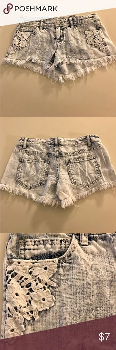 """Women's Denim Shorts Women's distressed denim """"short shorts."""" Barely worn, excellent condition! Mossimo Supply Co. Shorts Jean Shorts"""