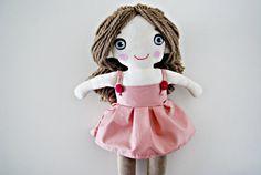 Bonnie rag doll cloth doll cuddly softie teddy bear baby by milipa on etsy.