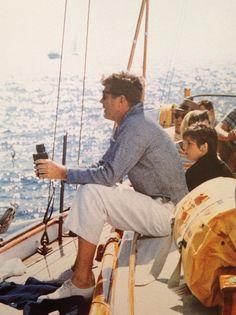 John F Kennedy sailing in Hyannis Port, September 9, 1962.