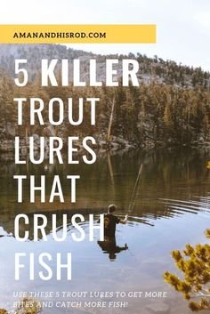 I have done some serious damage with these 5 KILLER trout fishing lures. - I have done some serious damage with these 5 KILLER trout fishing lures. I will show you my 5 favor - Best Trout Lures, Trout Fishing Lures, Kayak Fishing Tips, Gone Fishing, Carp Fishing, Fishing Boats, Fishing Tackle, Fishing Rod, Fishing Shirts