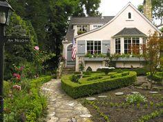 Pink fairytale cottage by architect Michael J. Murphy, Carmel, California