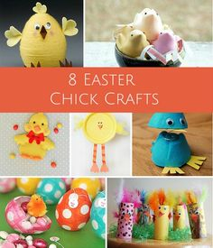 8 Cute Easter Chick Crafts