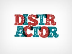 Distractor typeface by It's me simon on @creativemarket