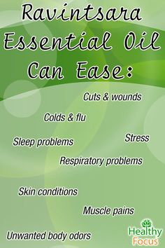 Ravintsara Essential Oil has many beneficial uses including: Colds and Flu, Respiratory, Heals Cuts and Wounds, General Skin Care and can relieve stress