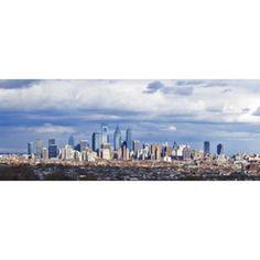 Buildings in a city Comcast Center Center City Philadelphia Philadelphia County Pennsylvania USA Canvas Art - Panoramic Images (15 x 6)
