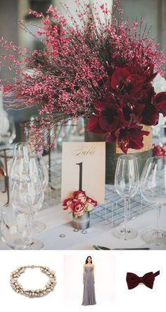 Marsala Wedding Ideas with Bows-n-Ties