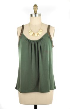 New York & Company Green Embellished Blouse Size XL #fashion #style