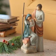"""Willow Tree The Holy Family by Susan Lordi Ideal For Smaller Spaces 7.5"""" Tall"""