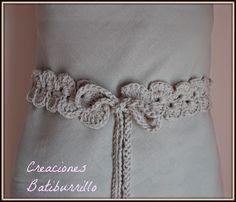 Cinturón crochet: Ondas alternas | Aprender manualidades es facilisimo.com