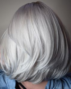 SILVER PEARL 🐚🔮 Scroll to see her before 👉🏼 My friend rymie has been getting highlights for a while and wanted to go full all… Silver Pearls, Silver Hair, Cotswold Cottages, Blonde Hair With Highlights, Gray Hair, Haircuts, Chrome, Hair Color, Long Hair Styles