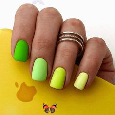 Summer is truly the most awaited season, and we are not going to deny it! On the contrary, today, we are going to talk about the trendiest summer nail colors of the upcoming season. When the sun shines bright, you meet and greet it in full armor! #cutesummernails<br> Neon Green Nails, Bright Summer Acrylic Nails, Cute Summer Nails, Summer Toe Nails, Bright Nails, Neon Nails, Yellow Nails, Summer Nail Polish, 3d Nails