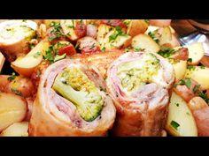 Sonkás sajtos brokkolis csirke grillben - sütőben füstölt paprikás kenőccsel Pit Boss grill - YouTube