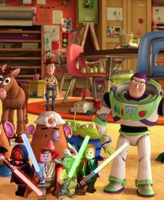 Toy Story (with Lego Star Wars), the movie would have been a lot shorter if Jedi knights fought Lotso! Disney Star Wars, Lego Star Wars, Star Trek, Disney Fun, Disney Pixar, Disney Stuff, Pixar Quotes, Pixar Characters, Jedi Knight