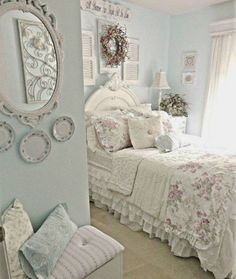 33 Sweet Shabby Chic Bedroom Décor Ideas - DigsDigs #shabbychicbedroomsromantic