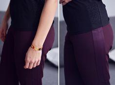 Les caprises d'Iris parle de Rose Electron pantalon prune simili cuir