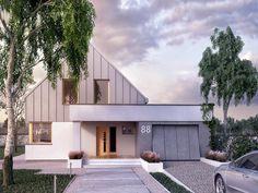 Contener House, Facade House, Modern Barn, Modern Farmhouse, Architecture Résidentielle, Modern House Facades, House Front Door, Antara, Design Case