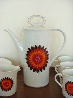 Mid Century Eschenbach China Tea or Coffee Serving Set