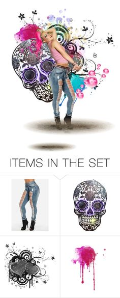 """pink"" by lola-rastaquouere ❤ liked on Polyvore featuring art"