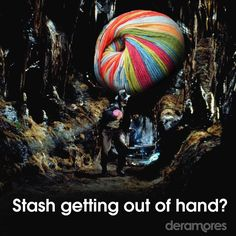 We know this feeling! Out Of Hand, Knitting Humor, Indiana Jones, New Hobbies, Knit Crochet, Weaving, Crafty, Halloween, Funny