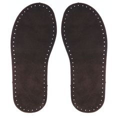 Joe's Toes - A pair of Suede leather Soles in Chocolate or Natural