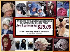 Hey, I found this really awesome Etsy listing at https://www.etsy.com/listing/121836545/crochet-patterns-and-knitting-patterns