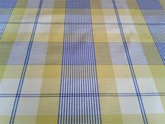 French tablecloths and home wares at bargain prices French Fabric, Blue Yellow, Check, Home Decor, Decoration Home, Room Decor, Home Interior Design, Home Decoration, Interior Design