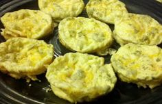 Mini Frittatas -- We love to make up a huge batch of Mini Frittatta's.  They are so simple to make and little kids really enjoy them.  The best thing about them is they are easy to adapt to your own family's taste (just like an omelet that you add whatever mix-ins you desire) and you can make a bunch...