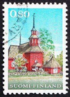 FINLAND - CIRCA 1970: a stamp printed in the Finland shows Keuru Wooden Church…