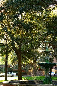 Walking around the Haunted Historic Savannah, GA