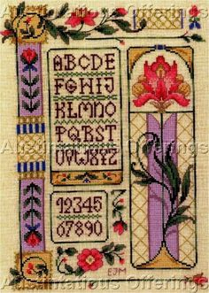 Joan Marchie's outstanding design sensibilities take a decidedly art deco bent in this exquisite design for the counted cross stitch artist. Worked on
