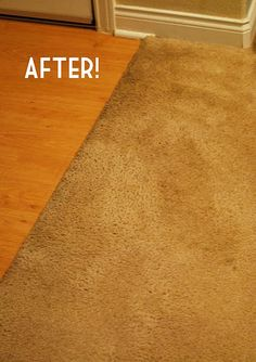 Magical carpet cleaner: Liquid dish soap + white vinegar!