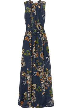 MSGM Printed Silk-Blend Chiffon Maxi Dress. #msgm #cloth #dress