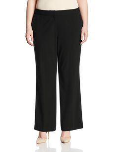 Anne Klein Women's Plus-Size Trouser Pant with No Belt Loops -- This is an Amazon Affiliate link. For more information, visit image link.